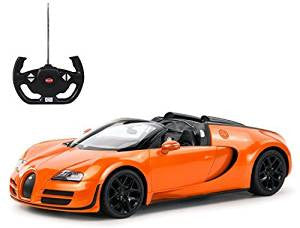 Rastar 1/14 Scale Oragne Bugatti Veyron 16.4 Grand Sport Vitesse Licensed RC Model Car