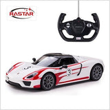 Rastar 1/14 Scale White Porsche 918 Spyder Performance Model Radio Control Car RTR
