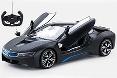 Rastar 1/14 Scale Black BMW i8 Authentic Body Styling w/Open Doors Licensed RC Model Car RTR