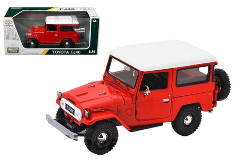 1:24 Scale Red Toyota FJ40 Diecast Model Car by Motormax