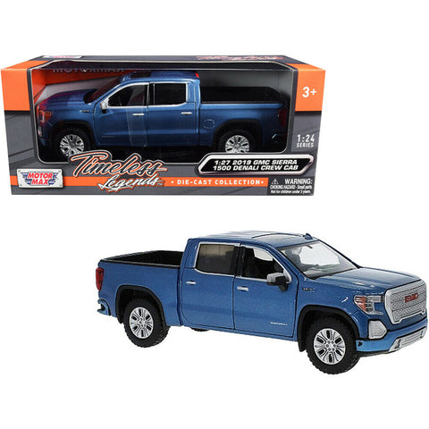 Motormax Timeless Legends - 1:27 Scale  2019 GMC Sierra 1500 Denali Crew Cab Model