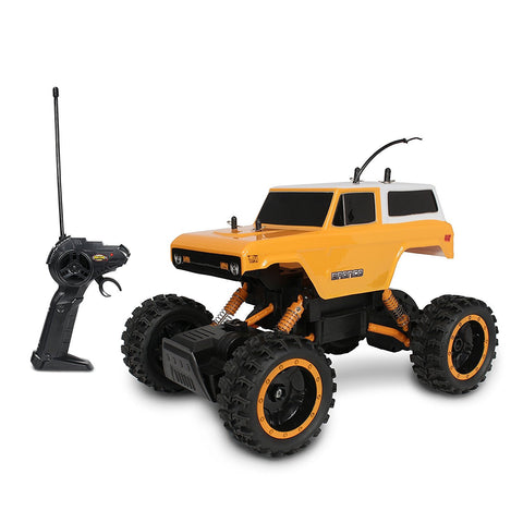 Nkok 1/14 Scale Yellow Mean Machine 70 Ford Bronco Rock Crawler RC Vehicle RTR