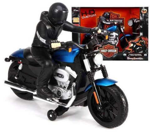 Maisto1/7 Scale Black/Blue Harley Davidson XL 1200 Nightster RC Motorcyle RTR