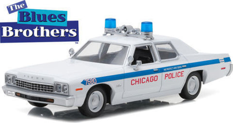 "1975 Dodge Monaco Chicago Police ""The Blues Brothers"" Movie 1:24 Scale Diecast Model Car by Greenlight"