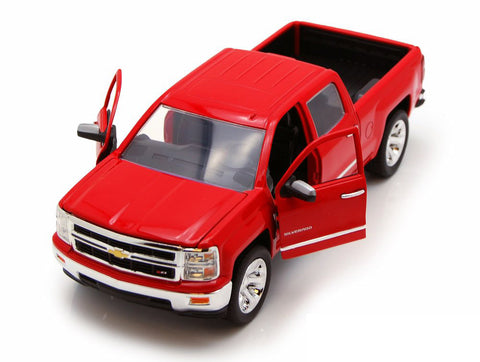 "Jada 1/24 Scale 2014 Red Chevy Silverado ""Just Truck Series"" Diecast Model Car"