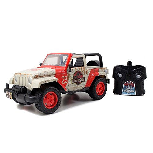 Jada 1/16 Scale Jurassic World Movie Licensed R/C Jeep Vehicle
