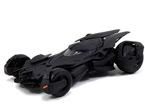 Jada 1:24 Scale Matte Black -Batman Vs Superman Movie- Batmobile Model Kit Licensed Diecast Car