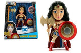 "JADA 6"" METALS - DC GIRLS - WONDER WOMAN WITH AXE & SHIELD (M378)"
