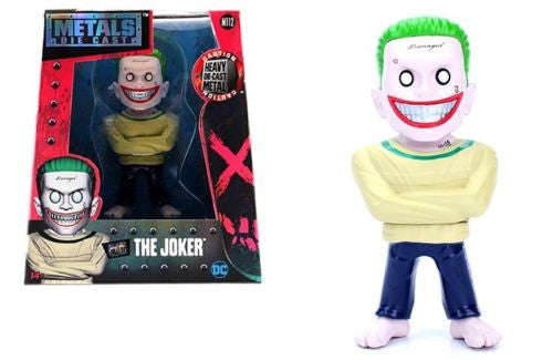 "JADA 4"" METALS - SUICIDE SQUAD MOVIE - THE JOKER (ARKHAM VERSION) FIGURE"