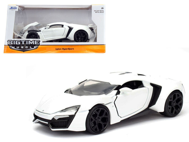 1:24 Scale White Lykan Hypersport Diecast Model Car by Jada