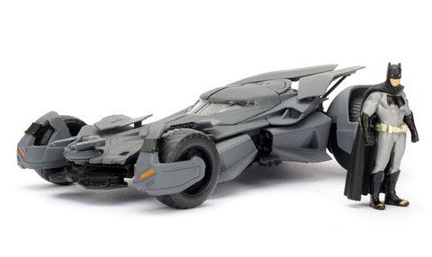 Batman Vs Superman Movie Batmobile With Batman Figure 1/24 Scale Diecast Model Car  By Jada