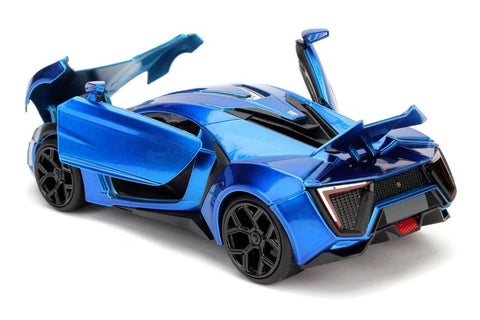 1:24 Scale Blue Lykan Hypersport Diecast Model Car by Jada