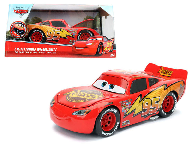 "Disney Pixar ""Cars"" Movie Lightning McQueen 1/24 Scale Diecast Car Model By Jada"