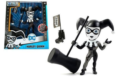 "JADA 6"" METALS - DC GIRLS - HARLEY QUINN WITH WEAPONS (GREY & BLACK) (M378)"