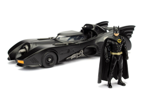 JADA METALS 1:24 W/B 1989 BATMOBILE & BATMAN DIECAST MODEL 98260