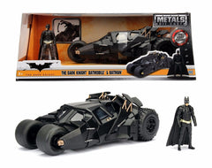 JADA METALS 1:24 Scale The Dark Knight Batmobile Car Tumbler With Batman Figure Diecast Model Car