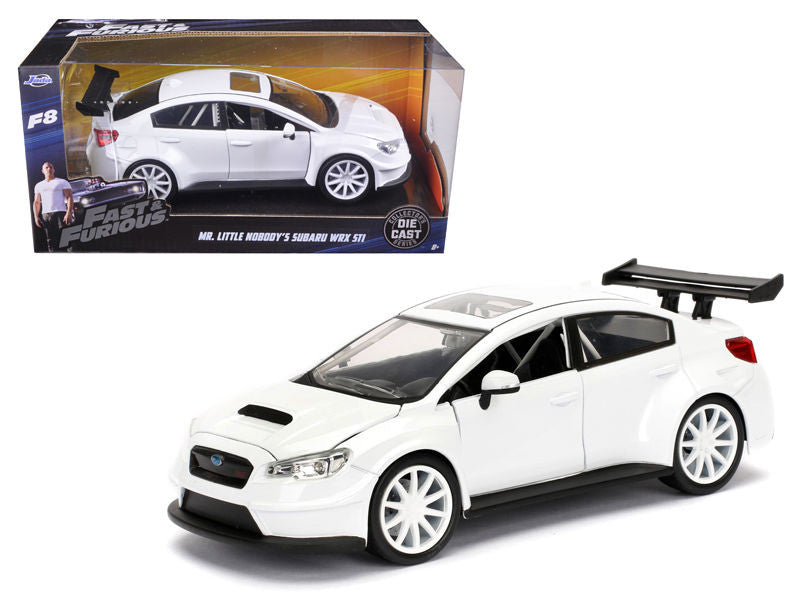 "MR. LITTLE NOBODY'S SUBARU WRX STI ""FAST & FURIOUS"" F8 MOVIE 1/24 SCALE BY JADA"