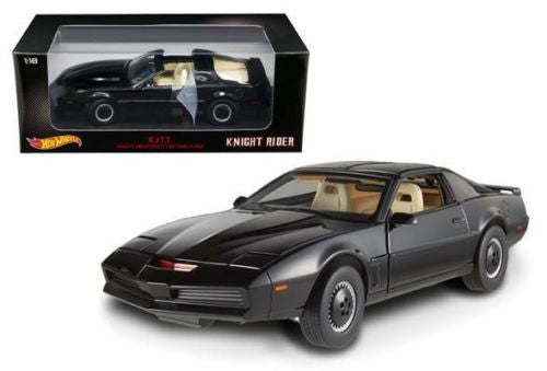 KNIGHT RIDER K.I.T.T. KNIGHT INDUSTRIES TWO THOUSAND 1/18 SCALE DIECAST MOVIE MODEL CAR BY HOT WHEELS