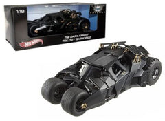 "Hot Wheels 1:18 Scale ""The Dark Knight"" Trilogy Movie Black Batmobile Tumbler Diecast Model Car"
