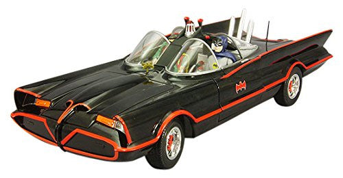Hot Wheels 1:18 Scale 1966 Batman Classic TV Series Batmobile with Batman and Robin Die-cast Car