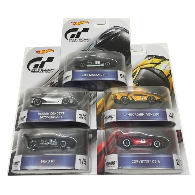 Hot Wheels 1:64 RETRO Entertainment C Case Gran Turismo Set Of 5 DMC55-959C