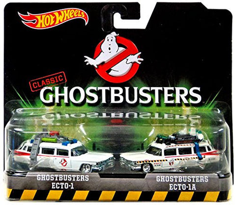Hot Wheels 1:64 Classic Ghostbusters Ecto-1 and Ecto-1A Movie Die-Cast Cars Twin-pack
