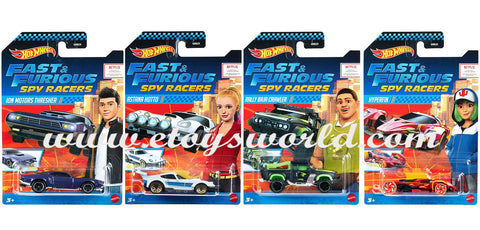 Hot Wheels 2020 1:64 Fast & Furious Spy Racers Set of 4 Cars
