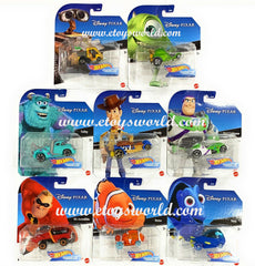 Hot Wheels 2020 1:64 Disney Cartoon Character Cars Set of 8 Cars  GCK28-999J