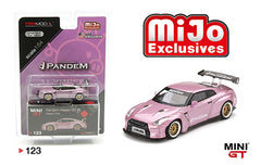 MINI GT 1:64 MiJo Exclusives - Pandem Nissan GT-R (Passion Pink) Model MGT00123