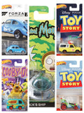 2020 Hot Wheels 1:64 Retro Entertainment Rick and Morty Rick's Ship, Scooby doo mystery machine, Pizza planet truck, toy story RC, Rick & Morty Spaceship and VW classic Bug Set of 5 DMC55-956S