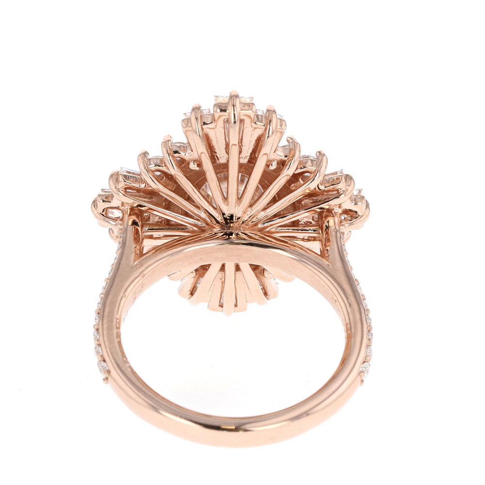 Custom Double Halo Victorian Rose Gold Ring - Ready to Ship