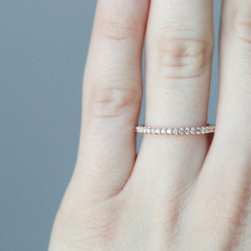 Classic 1.3mm - Ready to Ship - Rose Gold- Finger Size 4.5