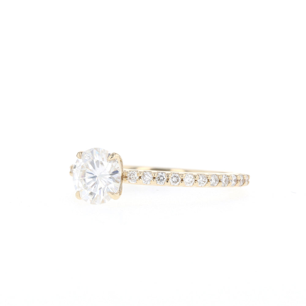 Junie - Yellow Gold - 6.0mm Moissanite - Ready to Ship