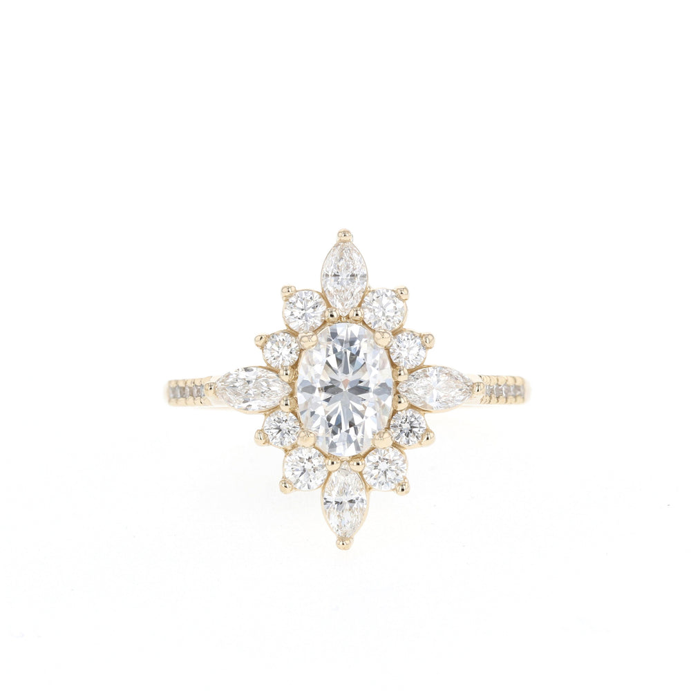 14K Rose / Moissanite