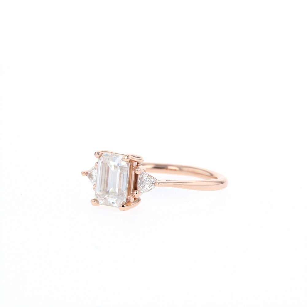 Lauren - Ready to Ship - Step Cut - Rose Gold