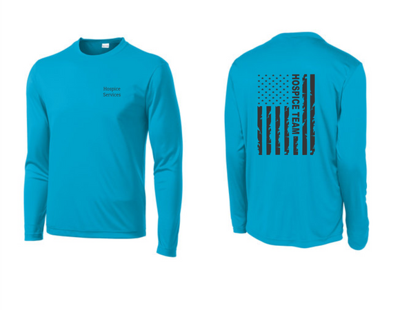 PHW - Hospice Flag - Dri-Fit Long Sleeve