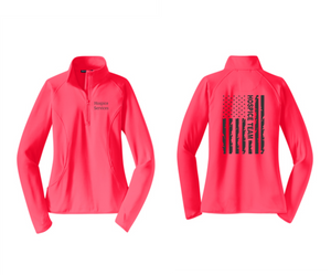 PHW - Hospice Flag - Ladies 1/2 or Full Zip Jacket