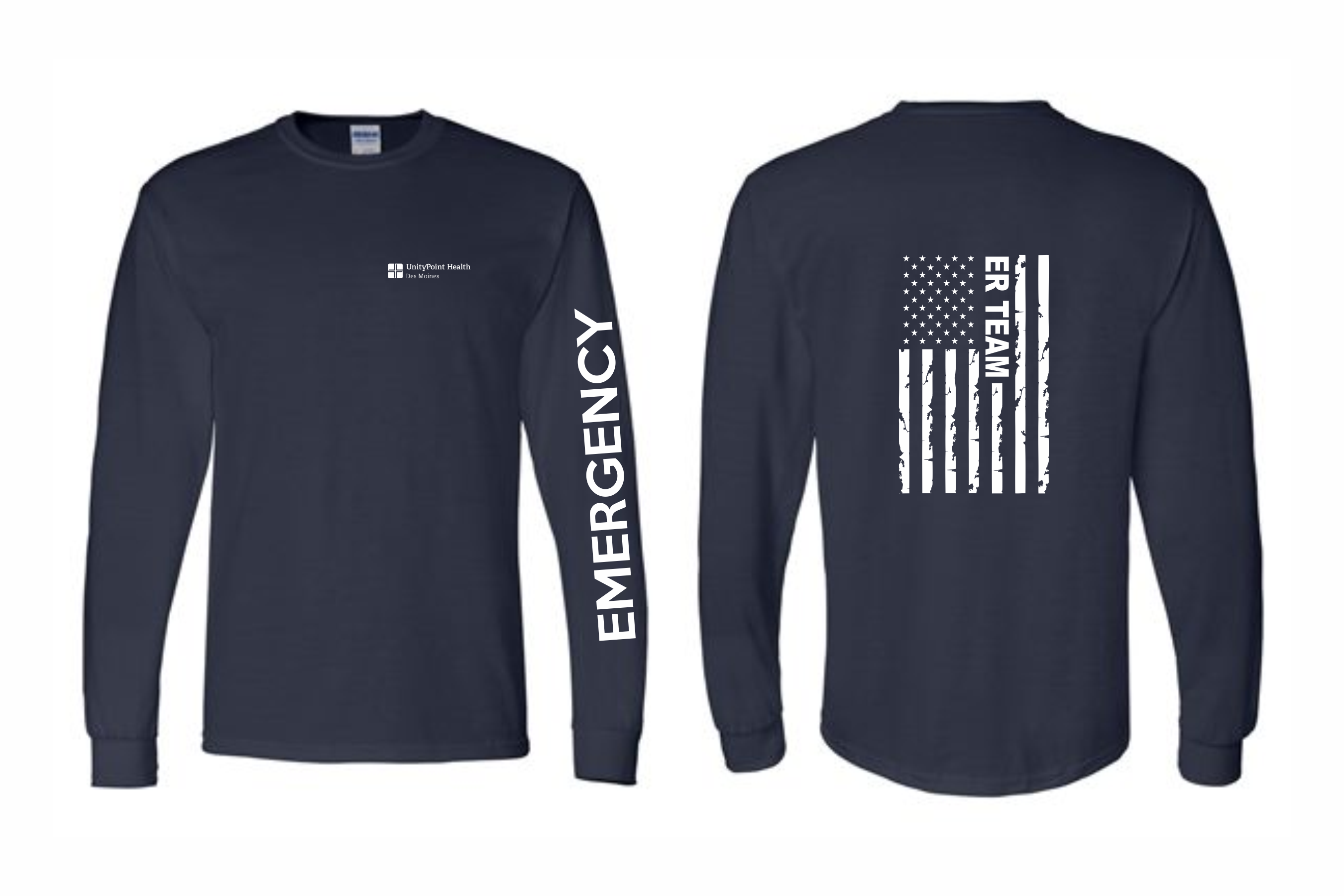 UnityPoint Des Moines Navy Long Sleeve