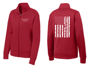 ProHealth Waukesha Occupational Therapy - Ladies 1/2 or Full Zip Jacket - Flag