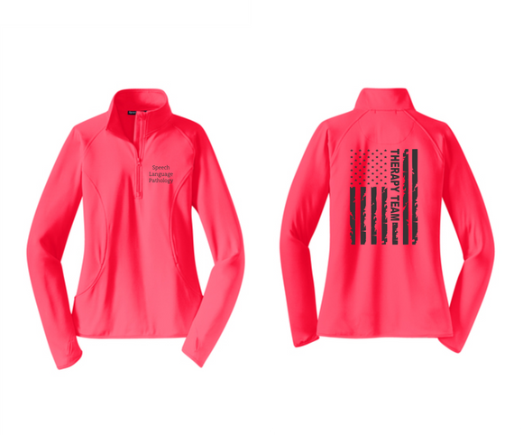 PHW - Speech Language Pathology Flag - Ladies 1/2 or Full Zip Jacket