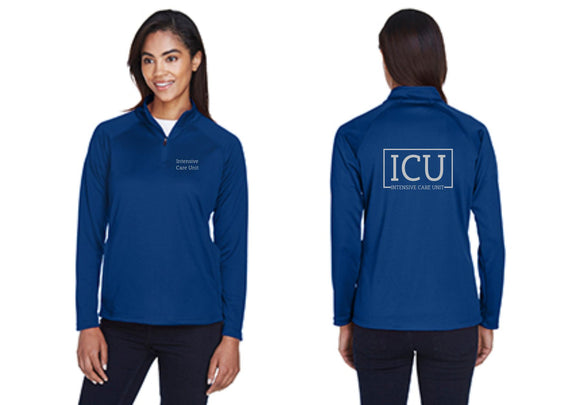 Ladies Intensive Care Unit Royal 1/4 Zip Jacket