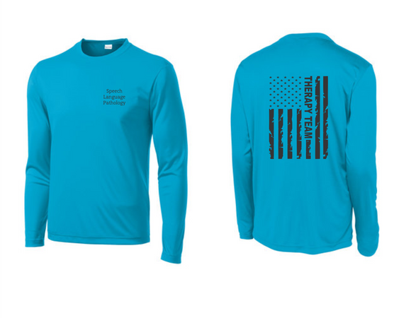 PHW - Speech Language Pathology Flag - Dri-Fit Long Sleeve