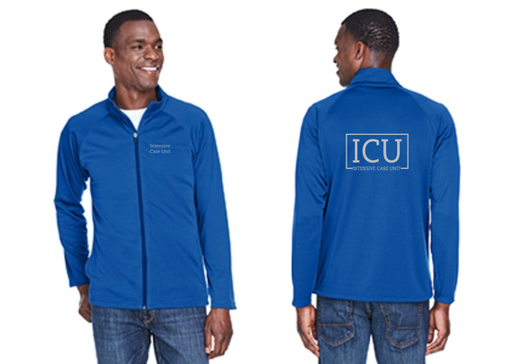 Mens Intensive Care Unit Royal Full Zip Jacket