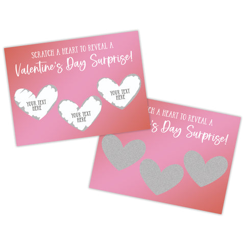 Create Your Own Valentine's Day Scratch Off Card - SCA0034