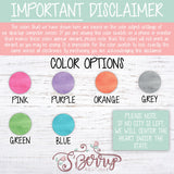 Color Disclaimer
