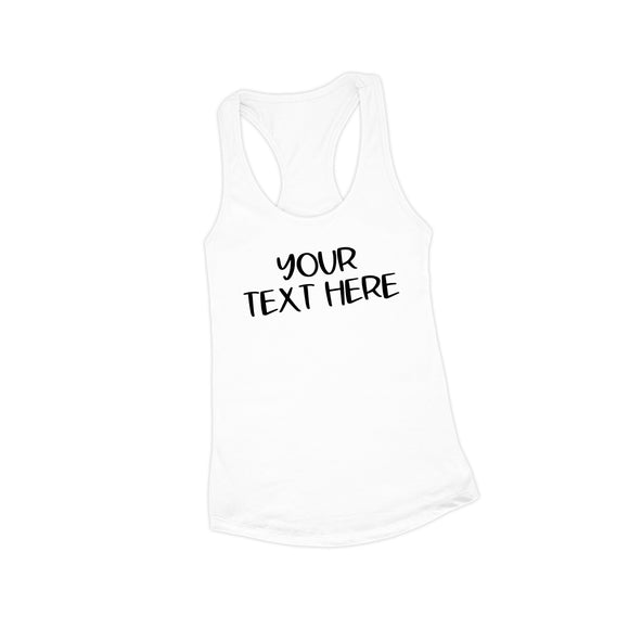 Create Your Own White Tank Top - NLTT0002