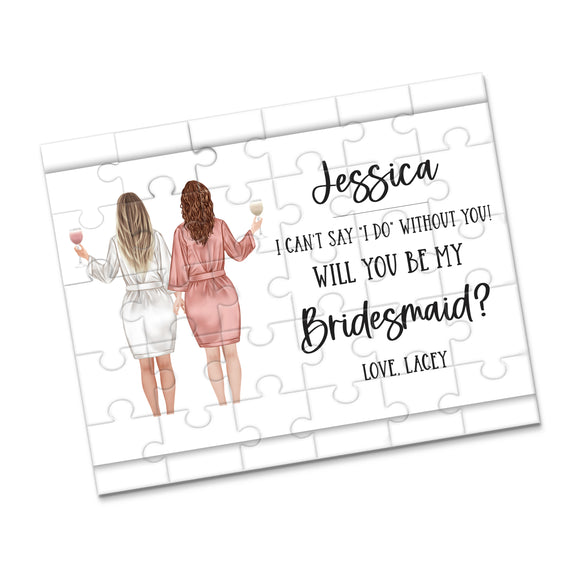 Personalized Asking Bridesmaid Puzzle - P2364