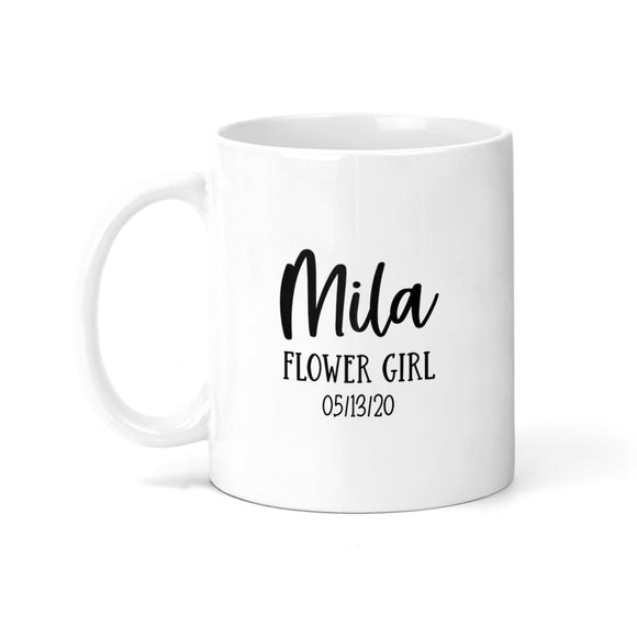 Personalized Flower Girl with Date Coffee Mug - M0536