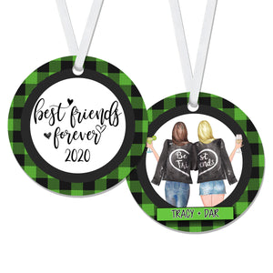 Personalized Best Friends Forever Christmas Ornament - RO0133