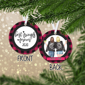 Personalized Best Friends Forever Christmas Ornament - RO0138